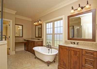 Master Bathroom with claw foot tub